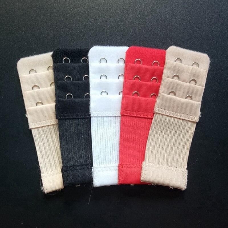 Women Bra Extender 3 Rows 2 Hooks Elastic Adjustable Lengthen Clasp Covered Button Underwear Bra Accessory