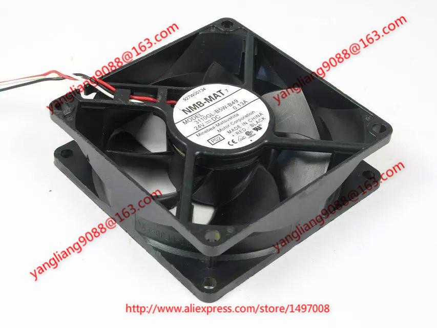 NMB-MAT  3110GL-B5W-B49, P02  DC 24V 0.13A, 80x80x25mm   Server Square  fan nmb mat 3110kl 04w b49 b02 b01 dc 12v 0 26a 3 wire server square fan