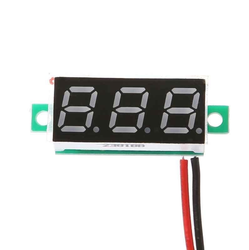 مصغرة 0.28 بوصة DC 2.5 V-30 V 2 الأسلاك الرقمية الفولتميتر جهاز قياس الجهد الكهربائي متر شاشة led الإلكترونية أجزاء
