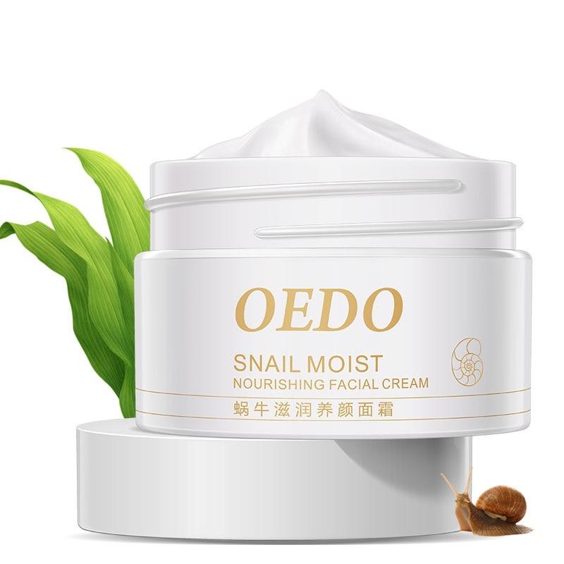 Maquiagem Snail Moisturizing Makeup Whitening Anti-aging Repair Face Care Natural Face Cream