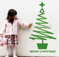 Vrolijke Holiday Kerstboom met Ster Venster muurstickers stickers Indoor ornament decorationXmas ambachten 2017 fashion
