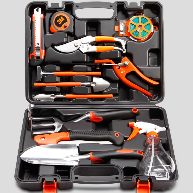 Garden Tool Set Of Flowers And Trees Pruning Household Hardware Toolbox Flowers Gardening Weed Growing Vegetables kraft will seven sets of garden tool set gardening metal toolbox tool set