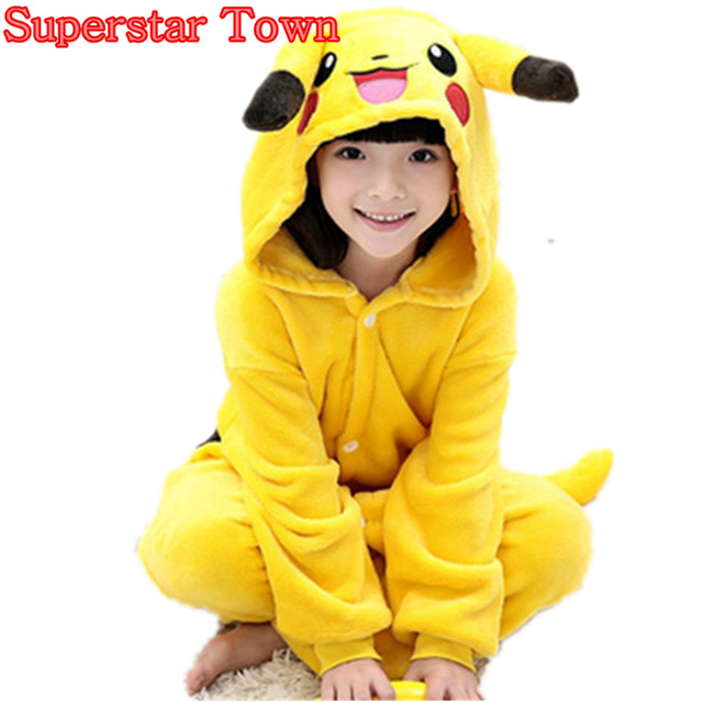 Niños Cosplay Onesies Pikachu Pokemon Bulbasaur Charmander Pijamas Unisex  Traje Lindo Del Mono Ropa de Dormir 583a73a78073