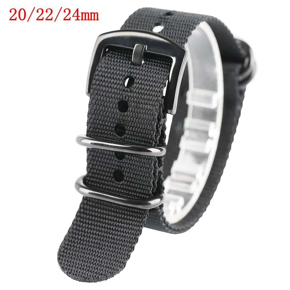 20/22/24mm Watch Strap Band Nylon Replacement Steel Pin Buckle Outdoor Army Style Two Colors Military Bracelet Soft Watch Strap bracelet style nylon stainless steel outdoor survival emergency rope army green brown