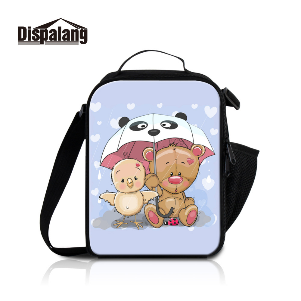 Dispalang Animals Kids Insulated Lunch Bags Cute Cartoon Beer Prints Picnic Lunchbab for Kids Women Office Thermal Lunch Box