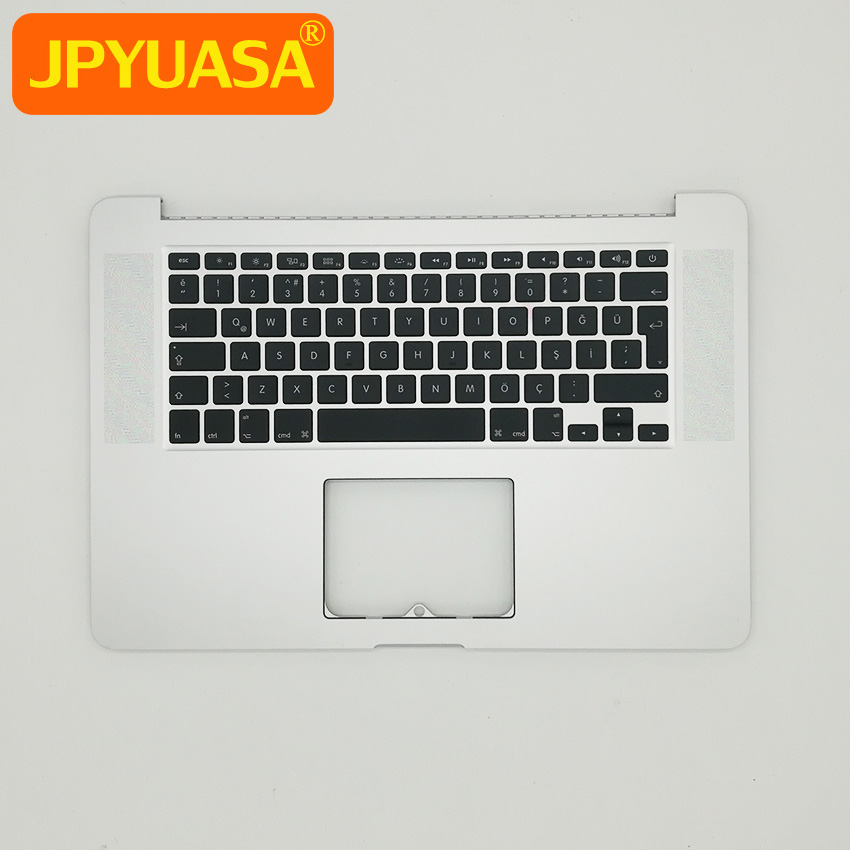 New Topcase Keyboard For MacBook Pro 15 Retina A1398 Palmrest Top Case Keyboard Turkey Turkish Layout 2012 Year original 15 a1398 lcd screen display 2012 2013 2014 for macbook pro retina 15 4 a1398 lcd panel lp154wt1 sjav replacement