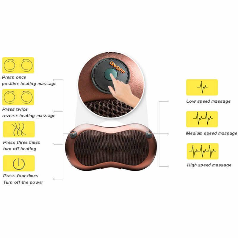 Cellulite Elektrische Shiatsu Nacken Schulter Massager Körper Spa Infrarot heizung 4D kneten Massagem Hause Auto Masaje
