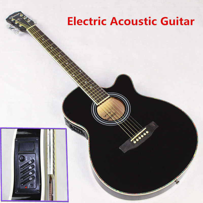 Hot guitars 40-1 40 inch high quality Electric Acoustic Guitar Rosewood Fingerboard guitarra with guitar strings high quality custom shop lp jazz hollow body electric guitar vibrato system rosewood fingerboard mahogany body guitar