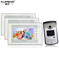 2017 Kablolu Video Kapı Zili Dijital interkom sistemi 1v3 apartman Kamera Monitör Gece-Görüş için Uzaktan Kilidini Ücretsiz Kargo