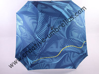 Straight aluminum square umbrellas.14mm blue aluminum shaft and fiberglass ribs,auto open,full printed windproof,honeycomb