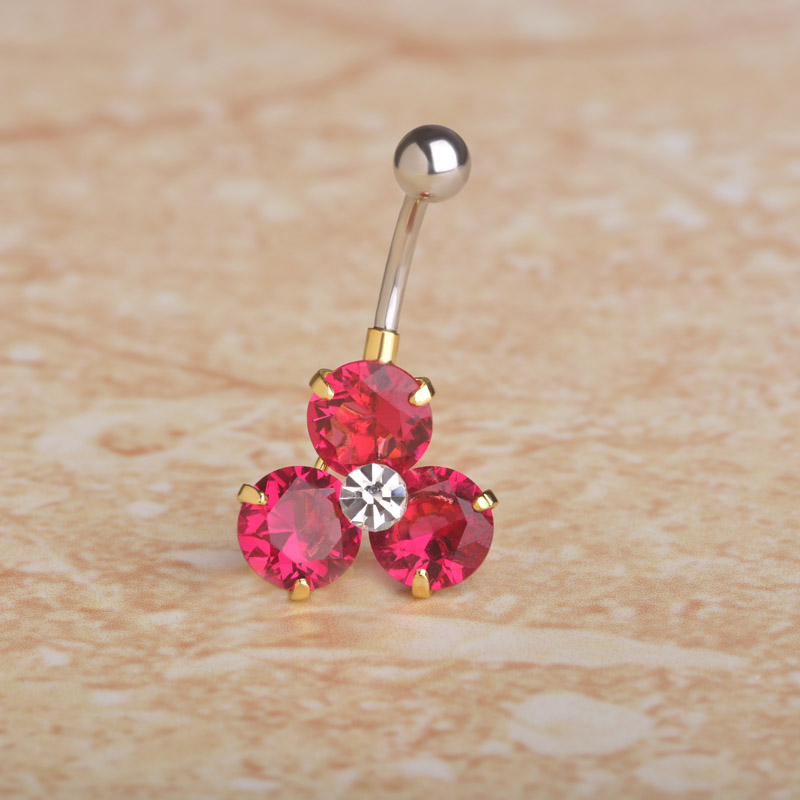 shades of search for latest enjoy best price US $3.74 25% OFF|FUNMOR Cubic Zircon Flower Belly Button Rings Copper Navel  Ring Women Girls Holiday Stainless Steel Helix Piercing Navel Jewelry on ...