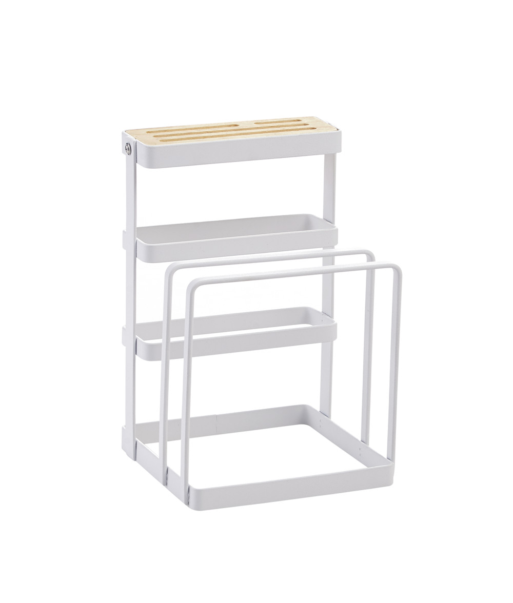 Hot Metal Cutting Board Chopper Holder Drying Rack Counter Display Stand Kitchen Storage Tool LSK99