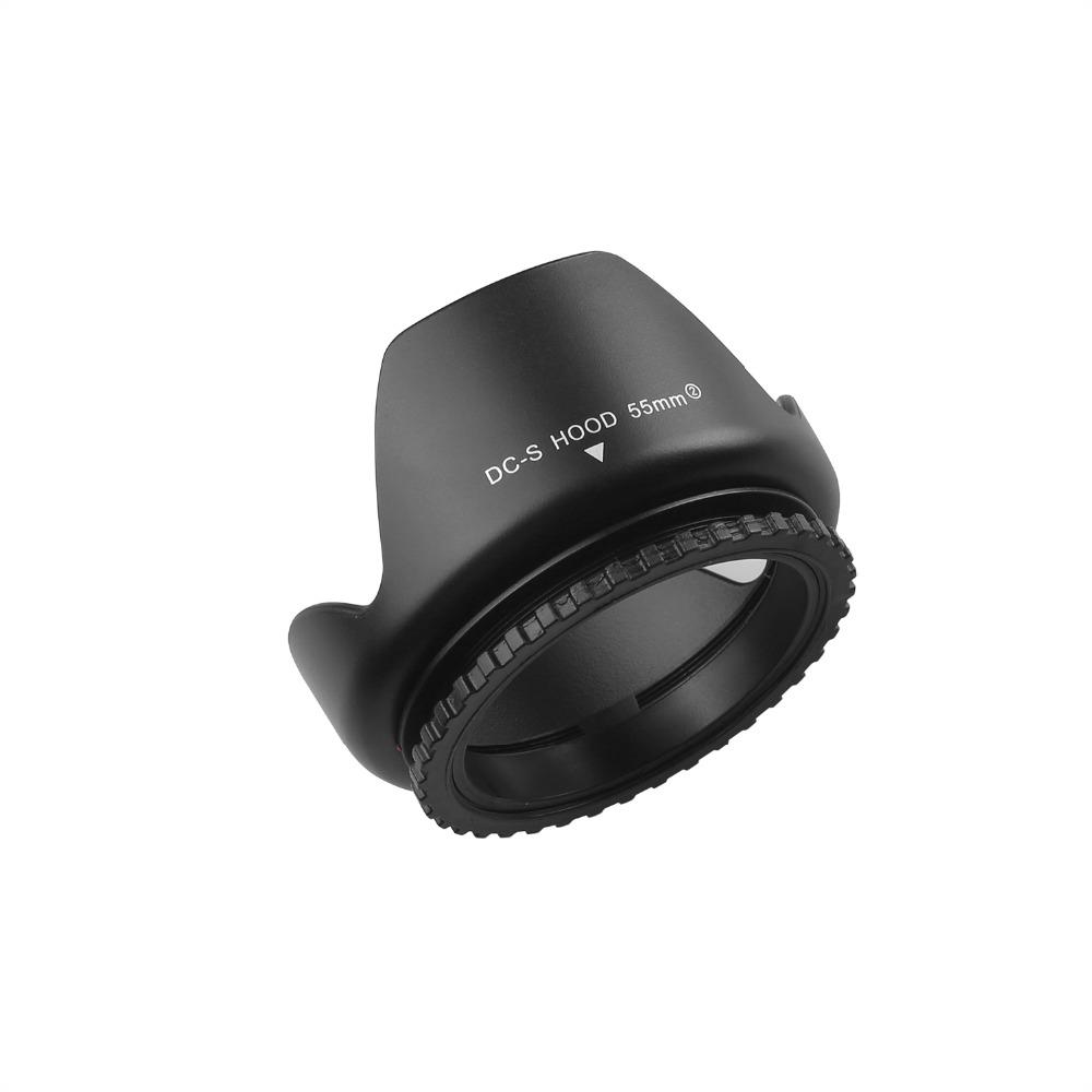 capsaver 55mm Lens Hood Screw Mount Flower Petal Tulip Lens Hood for Canon Nikon Sony Camera Accessories Lens Protect 8