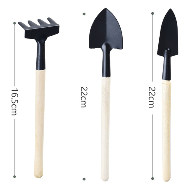 Mini set outdoor bonsai tools handmade plant planting flower Spade/shovel garden hand tools three-piece sale Garden Tools
