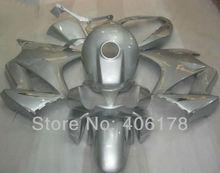 Hot Sales,Cheap Fairing kit For Honda VFR800 2002-2012 VFR 800 02-12 White Silver Oem Motorcycle Fairings (Injection molding)
