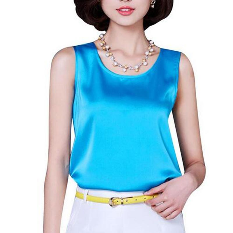 New Summer Women Sexy O Neck Tanks Sleeveless Solid Color Rayon Tops Tees Fashion Tanks Tops