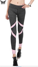 MADHERO Womens Yoga Trousers Leisure Running Tights Elastic Pencil Pants Fitness Yoga Sport Leggings Patchwork Trousers Female