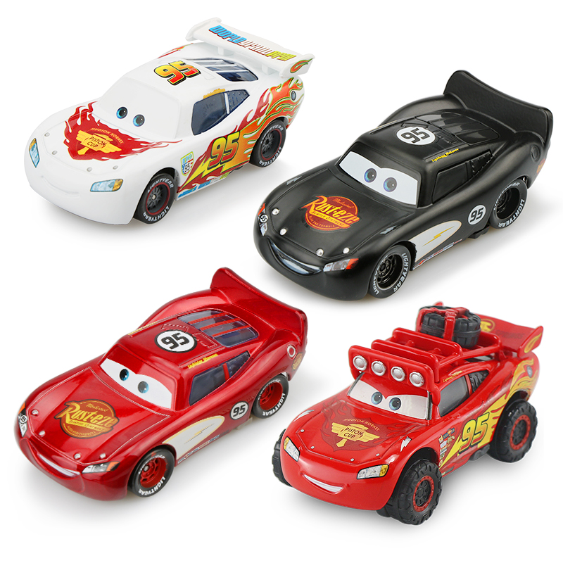 Disney Pixar Cars 2 3 New Lightning McQueen SUV Mater Flo Jackson Storm 1:55 Diecast Metal Alloy Kid  Christmas Toy Best Gift