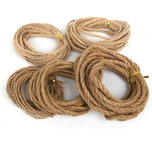 2/4/6mm Burlap Ribbon 5M/lot Natural Hessian jute Twine Rope For DIY Rustic Wedding Christmas Party Decoration Accessories(China)