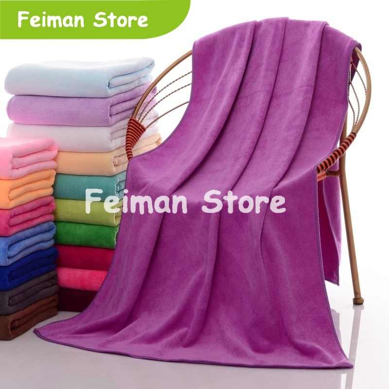 10 Color New Fashion Soft Microfibre Beach Bath Towel Swim Washcloth Lightweight Large Towel Sports Travel Accessories