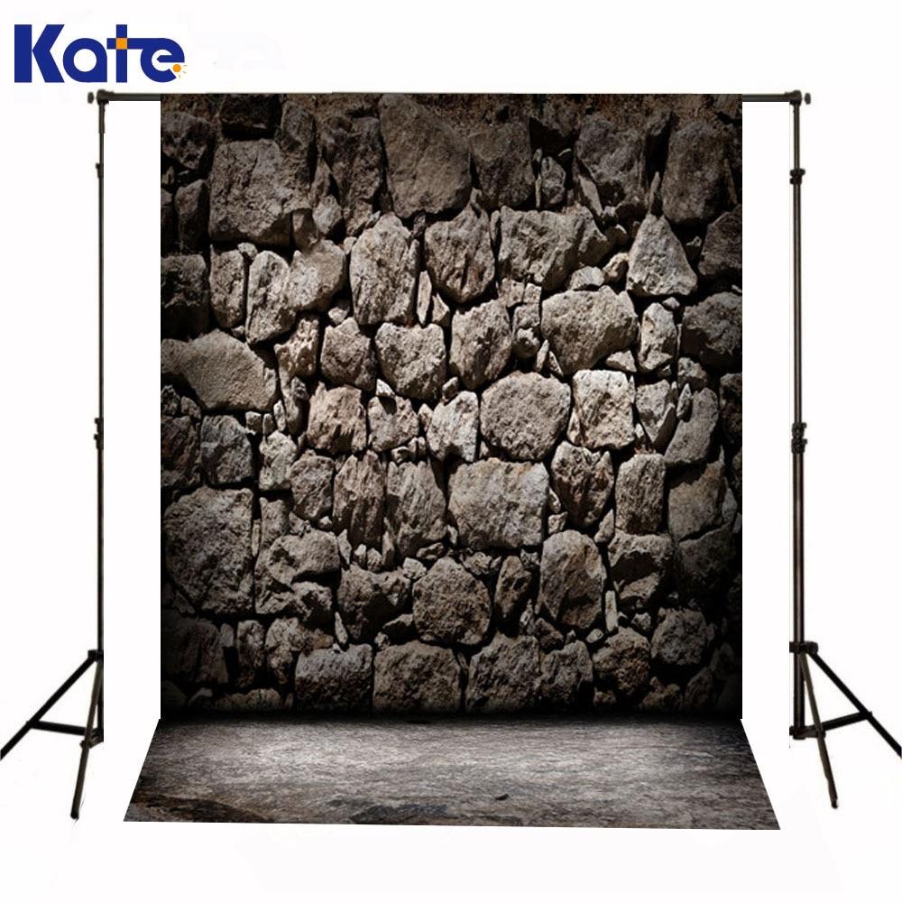 Kate nouveau-né bébé arrière-plans pierre est mur Photographie décors gris solide étage Fond Photographie pour Studio de Photo