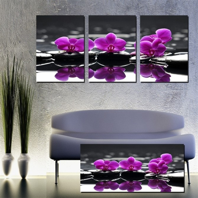 Aliexpress Com Buy Free Shipping 3 Piece Wall Decor: Popular Canvas Orchid-Buy Cheap Canvas Orchid Lots From