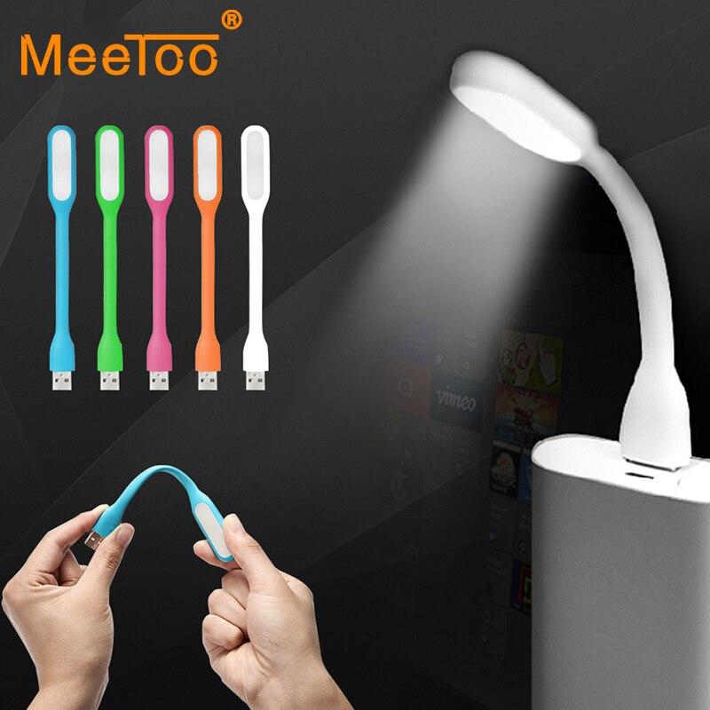 Enthousiaste Meetoo Nouveau Lampe Livre à Led Usb Original Pour Liseuses Mini Puce éclairage Réglable En Blanc/bleu/vert/rose/orange