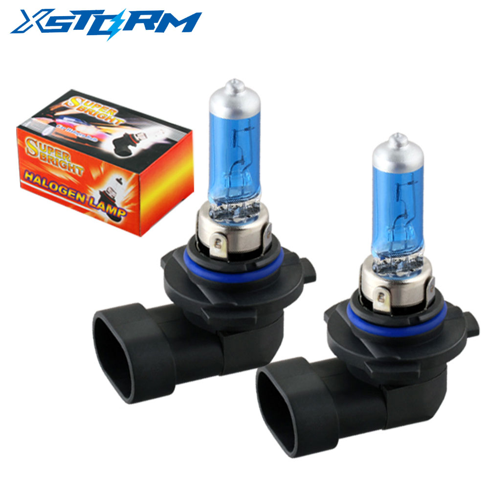2шт 9006 HB4 55 Вт галогенные лампы Супер яркий белый головной светильник s лампы противотуманный светильник s стояночный 12 в автомобильный свети...