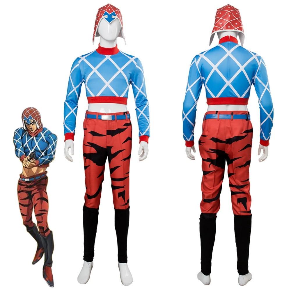 JoJo's Bizarre Adventure: Golden Wind Guido Mista Cosplay Costume Suit Adult Halloween Carnival Costumes Full Set Custom Made