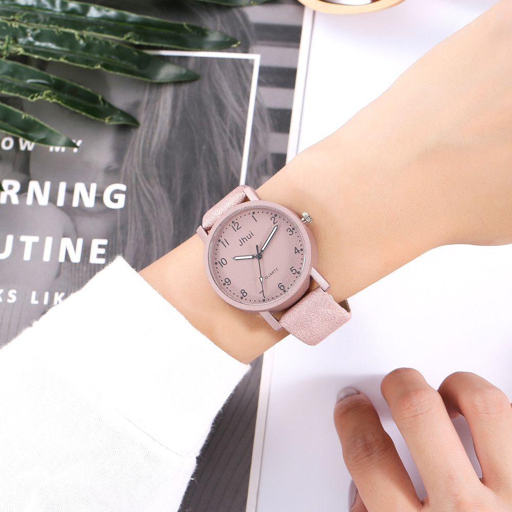 Luxury Women's Watch Women's Casual Quartz Leather Band New Strap Watch Analog Wrist Watch Female Causal Clock Relogio Feminino