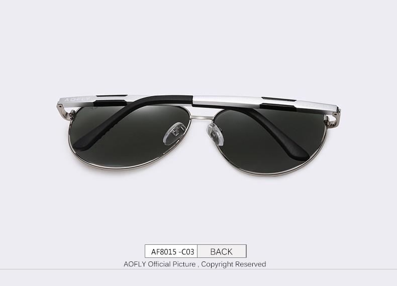 3f09e94424 AOFLY Cool Original Brand Sunglasses Polarized Sunglasses Men HD Polaroid  Lens Mirror Driving Outdoor Sun glasses Male Google