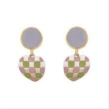 new  trendy geometric heart dangle earrings for women metal statement hyperbole jewelry gifts