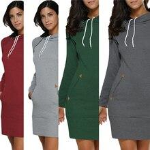 Пуловер женский свитер запонки свитера многоцветные с капюшоном женское платье-свитер XL