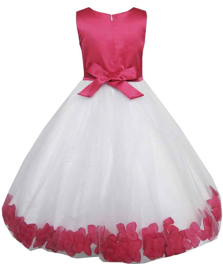 5c5e0386c ... Sunny Fashion Girls Dress Rose Flower Tulle Wedding Pageant Bridesmaid  Kids Clothes 2018 Summer Princess Party