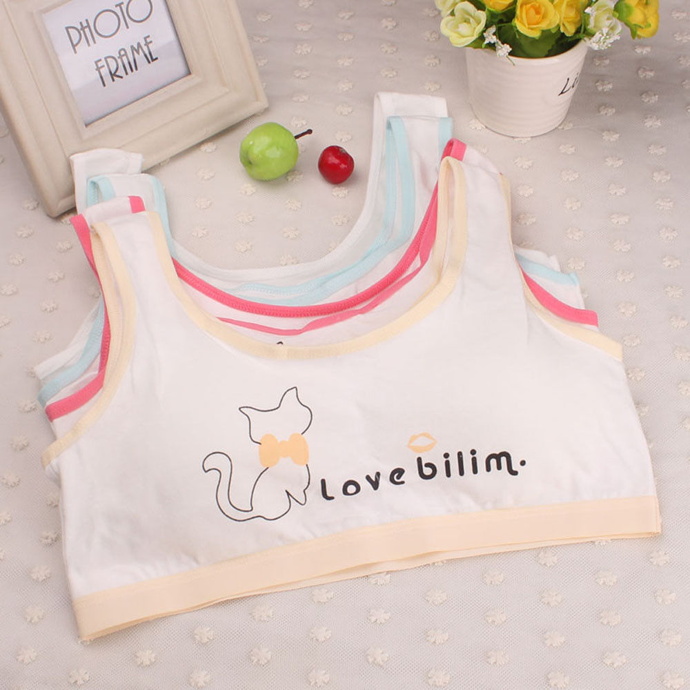 Vest Girls Underwear Kids Children New Sport Print Bra Undies Menina1.87 Roupa Lovely