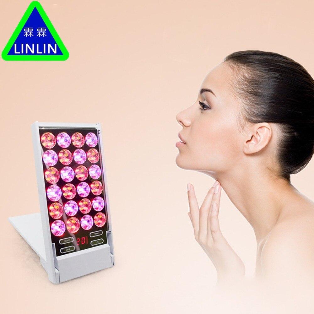 LINLINLED piccola fila Mini lampada di illuminazione apparecchi di bellezza viso illuminatore sbiancamento e ringiovanimento famiglia sbiancamento lampada