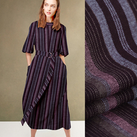 150CM Wide 220G M Weight Stripe Thin Wool Fabric For Autumn And Spring Dress Outwear Overcoat