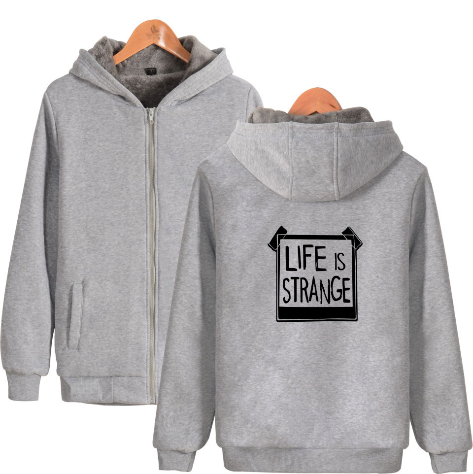 Image 4 - Game Life is Strange Thick Warm Sweatshirt With Hat Whatif Print Hoodie Winter Life is Strange Max Caulfield Thick Hoodie-in Hoodies & Sweatshirts from Men's Clothing