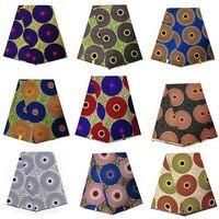Gran diseño circular Ankara Real Impresión de cera Nigeria 100% algodón tela de impresión de cera Africana tela de impresión de cera de alta calidad para las mujeres vestido parte 1