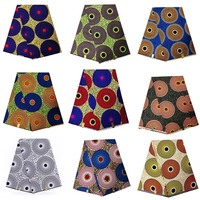 big circle design Ankara Real Wax Print Nigeria 100% Cotton African wax print Fabric High Quality for women dress PART 1