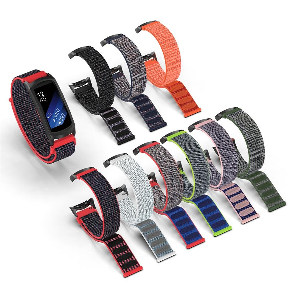 Replacement Nylon Sport Loop Wrist Band Strap For Samsung Gear Fit2 Pro Fit 2 Straps Wristband Bands Non Slip Stylish Design