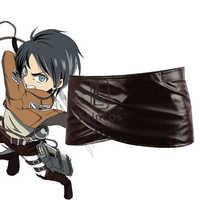 Anime Shingeki Keine Kyojin Angriff Auf Titan Deluxe Edition Cosplay Kostüme Unisex Schokolade PU Leder Schürze Gürtel Rock