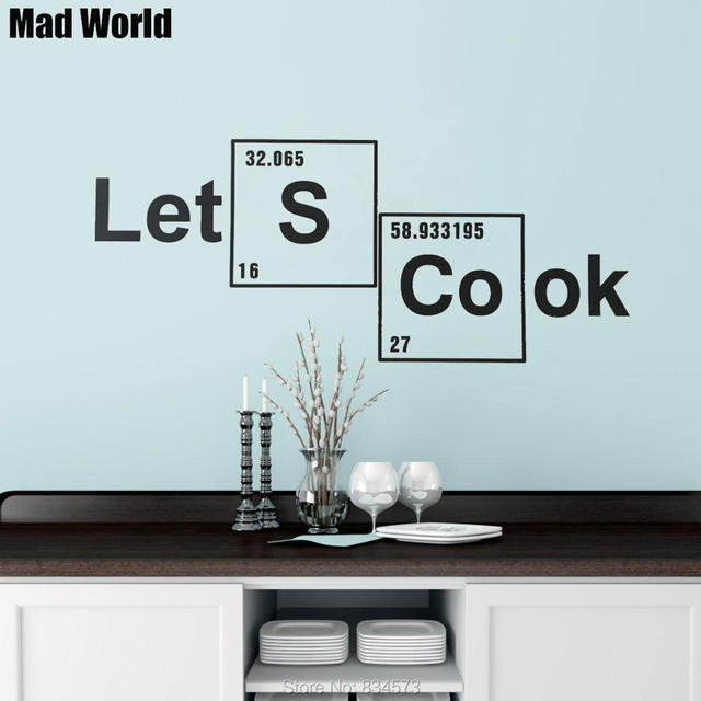 Mad World Let S Cook Periodic Table Elements Wall Art Stickers Decal Home Diy Decoration