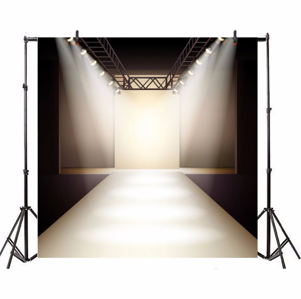 Laeacco Spotlight Model Catwalk Stage Scene Photography Backgrounds Portrait Photographic Vinyl Backdrops For Photo Studio in Background from Consumer Electronics