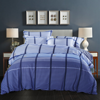 Multicolor Stripes Duvet Cover Set Summer Duvet Cover Bedsheet Pillowcase 4pc Bedding Sets Queen King Size