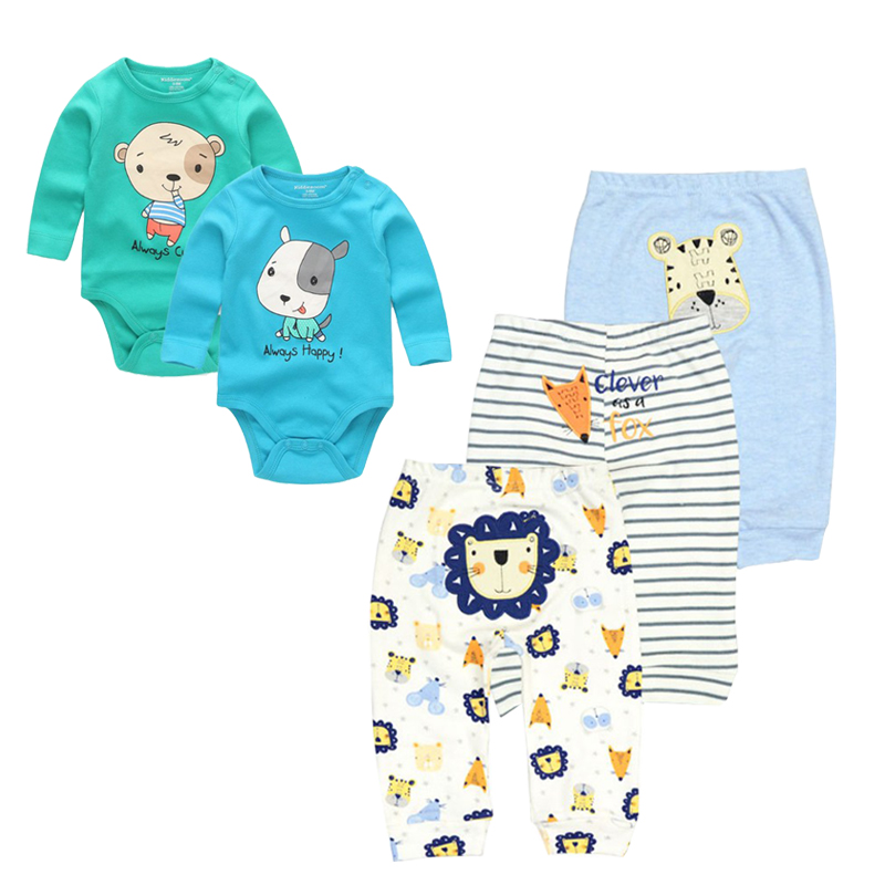 Newborn Baby Clothing Sets New Baby Playsuit Boy/Girl Clothes Set Cotton Long Sleeves Babywear Bodyysuit+Pants Infant Wearing 2pcs set baby clothes set boy