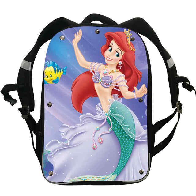 mermaid backpacks instinct boys girls teenager princess ariel animal
