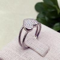 925 Sterling Silver Love Heart White Gold Color 1