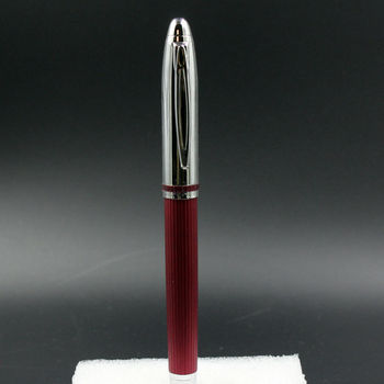 New Old Stock Fuliwen Red Line Fountain Pen Medium Nib Converter Pen Stationery Office school supplies fountain pen medium nib 0 5mm business supplies for school student plum blossom fountain pen stationery
