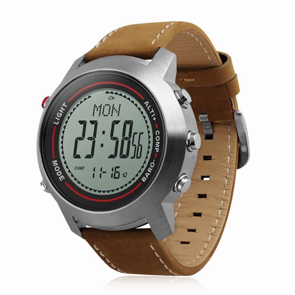 WQ MG03 montre intelligente hommes 50 m étanche météo prévision altimètre baromètre thermomètre boussole chronomètre Sport montre intelligente